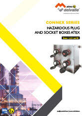 Hazardous Plugs and Socket Boxes Atex Connex · Atex Delvalle
