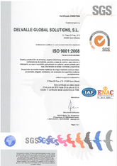 ISO 9001 Certificate · Atex Delvalle