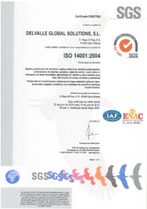 ISO 14001 Certificate · Atex Delvalle
