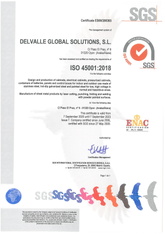 ISO 45001 Certificate · Atex Delvalle