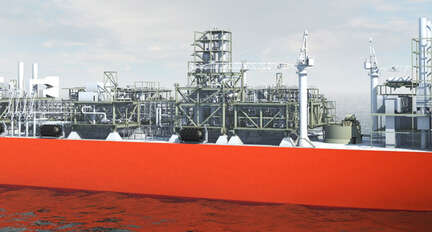 Floating production FLNG · Atex Delvalle